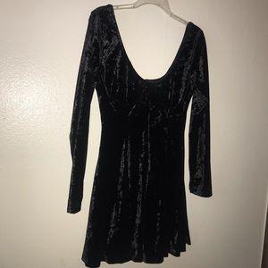 NWOT Black Velvet Bustier Dress